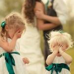 Schattige kinder bruidsmode