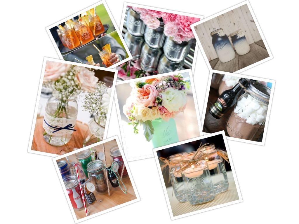 Een Mason Jar op als decoratie op je bruiloft - Trouwteam