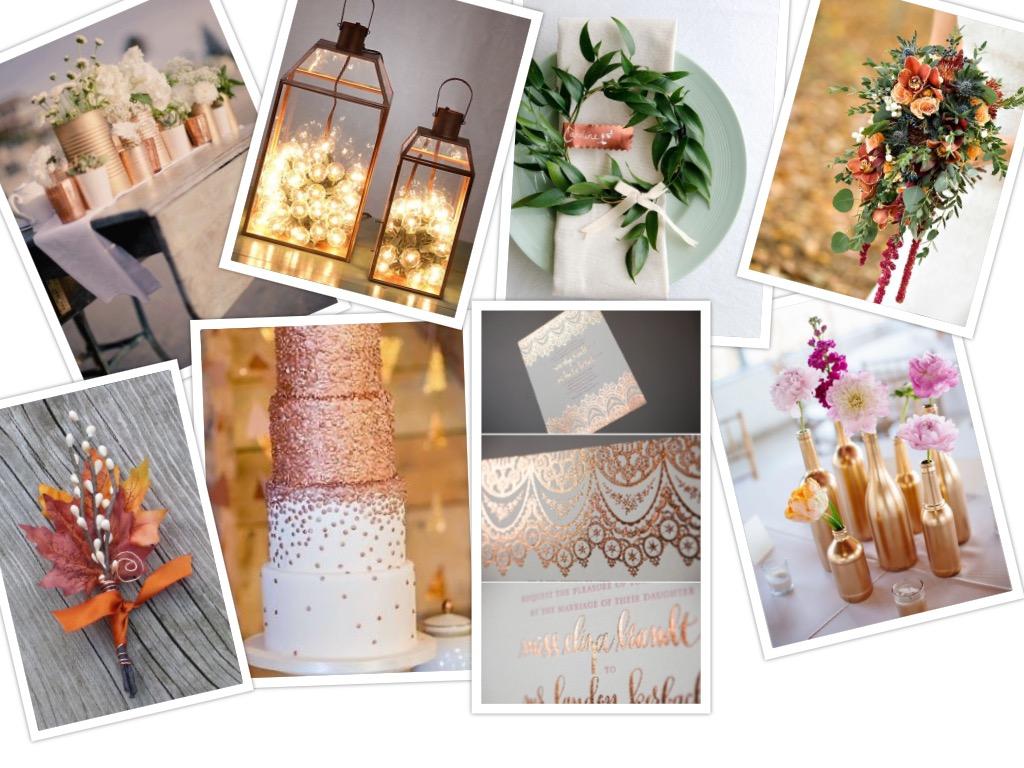 Koperen details op je bruiloft!