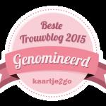 Trouwteam is genomineerd voor trouwblog van het jaar!